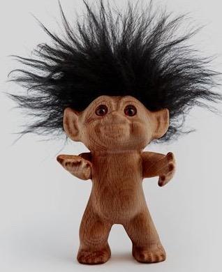 Houten trol