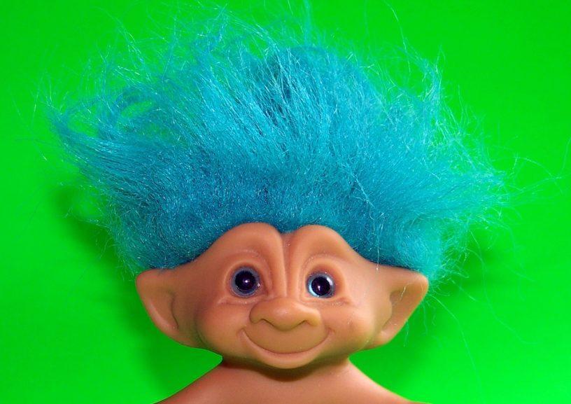 Troll blauw haar
