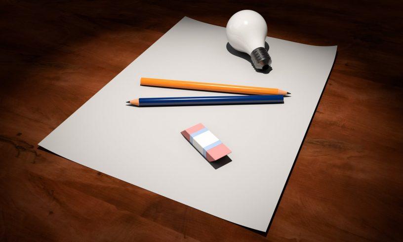 Lamp en papier en potlood